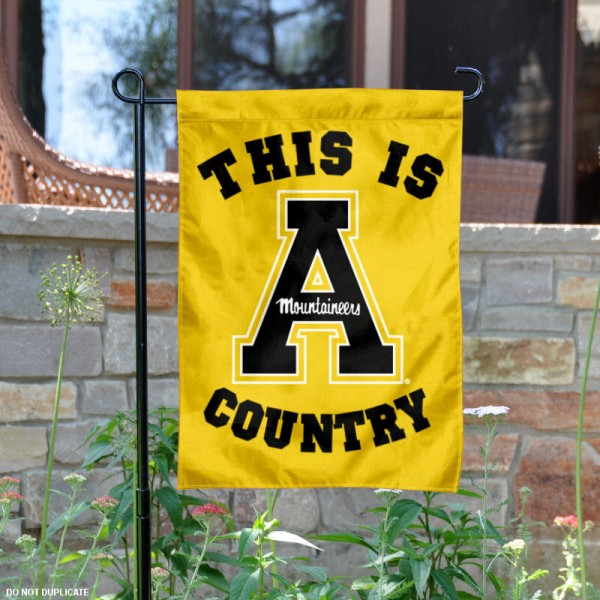 This is App State Country Garden Flag