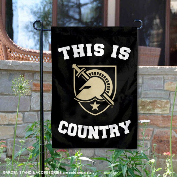 This is Army Black Knights Country Garden Flag