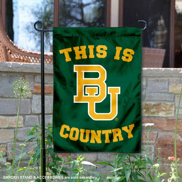 This is Baylor BU Bears Country Garden Flag