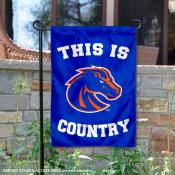 This is Boise State Country Garden Flag