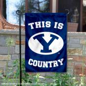 This is BYU Cougars Country Garden Flag