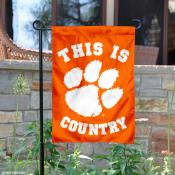 This is Clemson Country Garden Flag