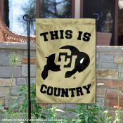 This is Colorado CU Buffaloes Country Garden Flag