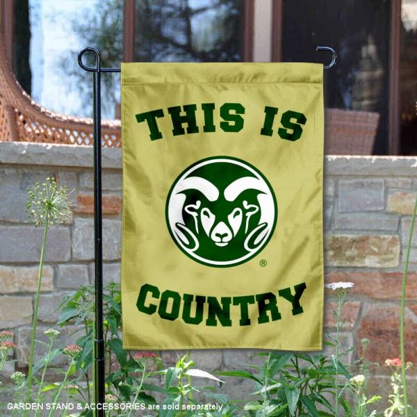 This is CSU Rams Country Garden Flag