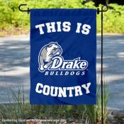 This is Drake Bulldogs Country Garden Flag