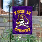 This is ECU Pirates Country Garden Flag
