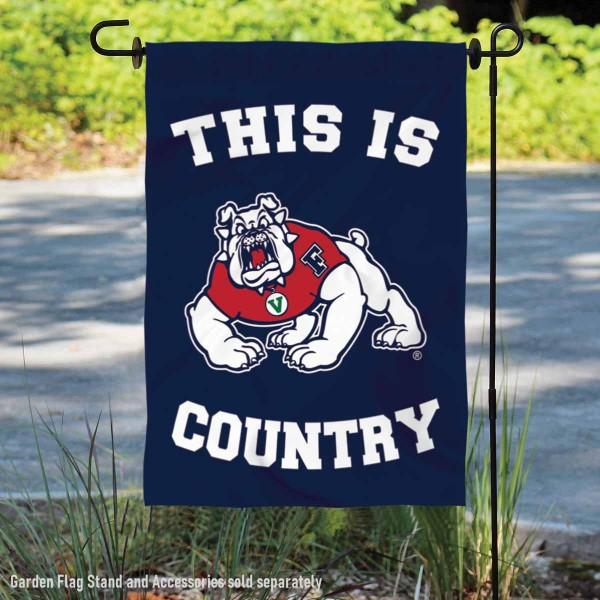 This is FSU Bulldogs Country Garden Flag