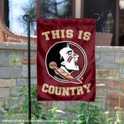 This is FSU Seminoles Country Garden Flag