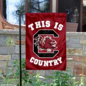 This is Gamecocks Country Garden Flag