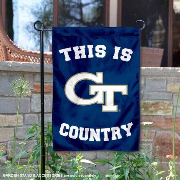 This is Georgia Tech Country Garden Flag