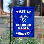 This is GSU Panthers Country Garden Flag