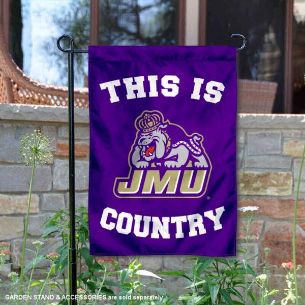 This is JMU Dukes Country Garden Flag