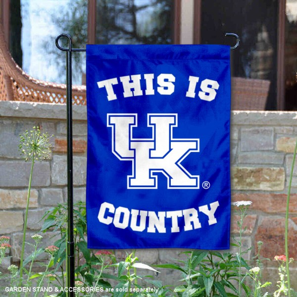 This is Kentucky UK Wildcats Country Garden Flag
