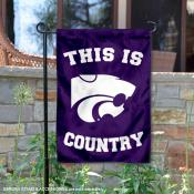This is KSU Wildcats Country Garden Flag
