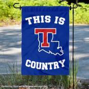 This is La Tech Bulldogs Country Garden Flag