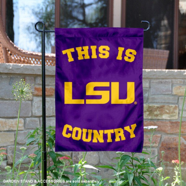 This is LSU Tigers Country Garden Flag