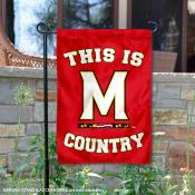 This is Maryland Terps Country Garden Flag