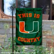 This is Miami Hurricanes Country Garden Flag