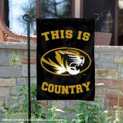 This is Missouri Mizzou Tigers Country Garden Flag