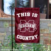 This is MSU Bulldogs Country Garden Flag
