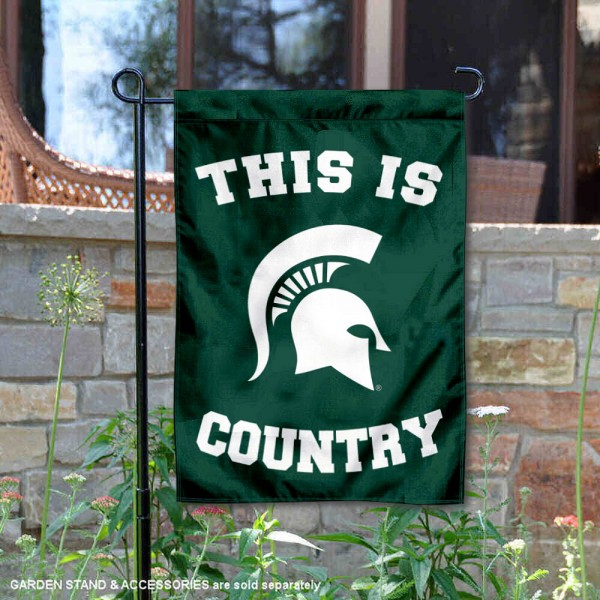 This is MSU Spartans Country Garden Flag