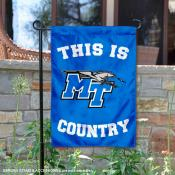 This is MTSU Blue Raiders Country Garden Flag
