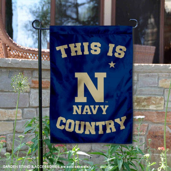 This is Navy Midshipmen Country Garden Flag