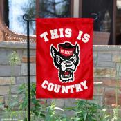 This is NC State Wolfpack Country Garden Flag
