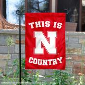 This is Nebraska Huskers Country Garden Flag