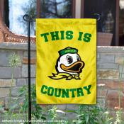 This is Oregon Ducks Country Garden Flag