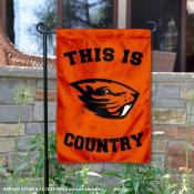 This is OSU Beavers Country Garden Flag