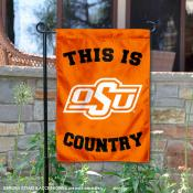 This is OSU Cowboys Country Garden Flag