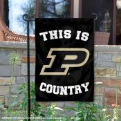 This is Purdue Country Garden Flag