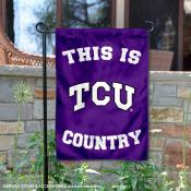 This is TCU Horned Frogs Country Garden Flag