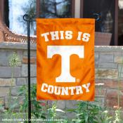 This is Tennessee Vols Country Garden Flag