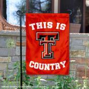 This is Texas Tech Country Garden Flag