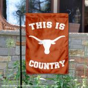 This is Texas UT Longhorns Country Garden Flag