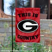 This is UGA Bulldogs Country Garden Flag