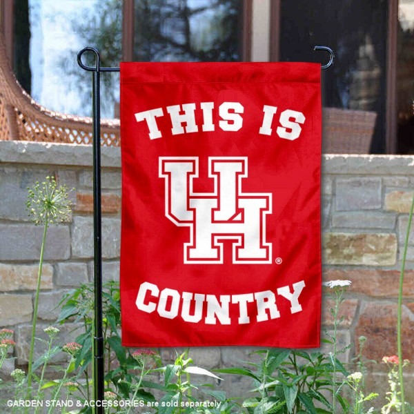 This is UH Cougars Country Garden Flag