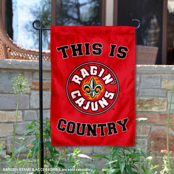 This is UL Lafayette Ragin Cajuns Country Garden Flag