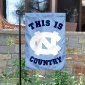 This is UNC Tar Heels Country Garden Flag