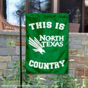 This is UNT Mean Green Country Garden Flag