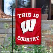 This is UW Badgers Country Garden Flag