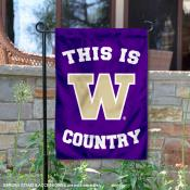 This is Washington UW Huskies Country Garden Flag