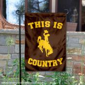 This is Wyoming Cowboys Country Garden Flag