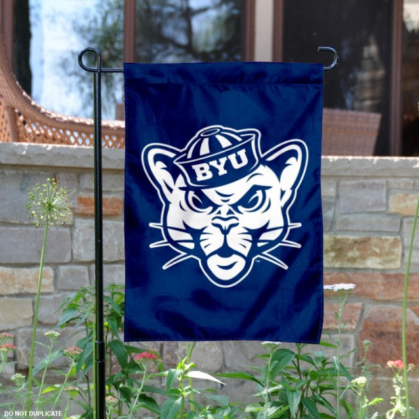 Throwback BYU Logo Garden Flag
