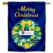Toledo Rockets Christmas Holiday House Flag