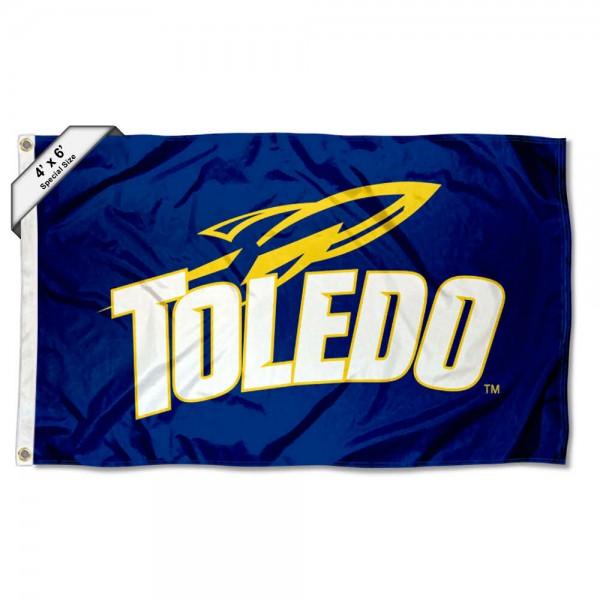 Toledo Rockets Logo 4'x6' Flag