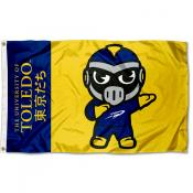 Toledo Rockets Tokyodachi Cartoon Mascot Flag