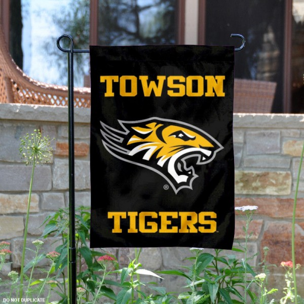 Towson Tigers Black Garden Flag